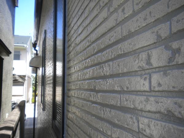 サイディング外壁クリアー塗装施工後