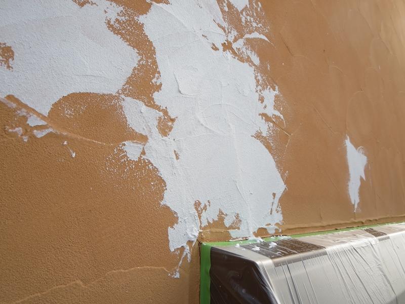 ジョリパット外壁 クラック処理 塗装