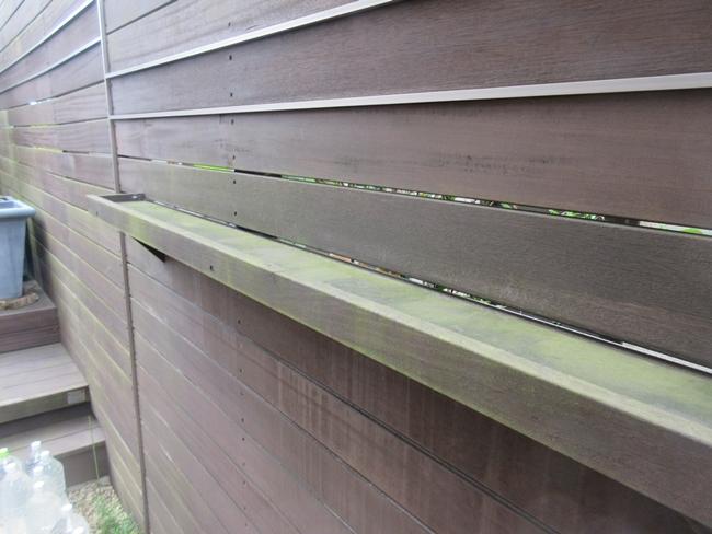木製フェンスパーゴラ塗装前