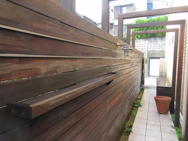 木製フェンスパーゴラ洗浄工事