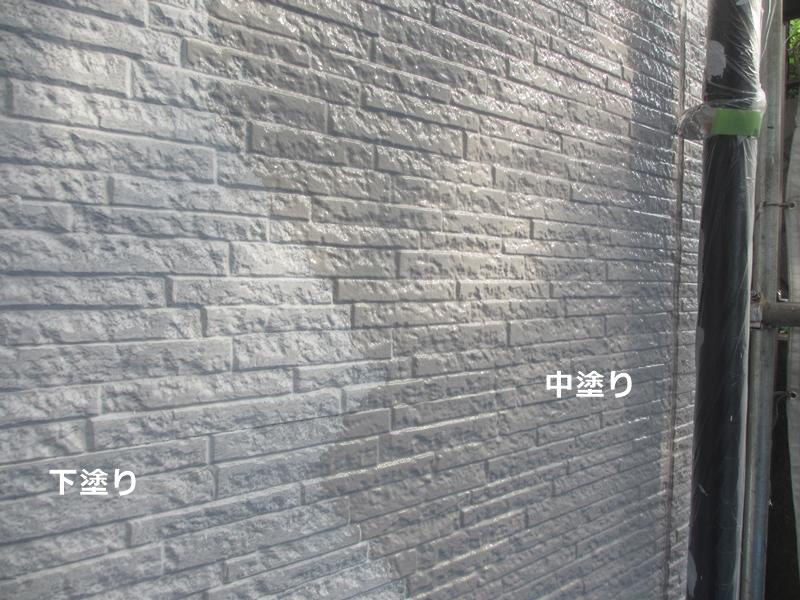 サイディング塗装 下塗り