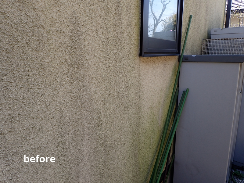 麻生区住宅 外壁塗装前汚れ