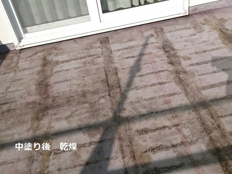 FRP防水 中塗り 乾燥