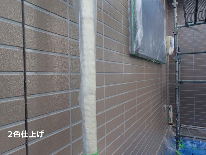 外壁サイディング 2色仕上げ