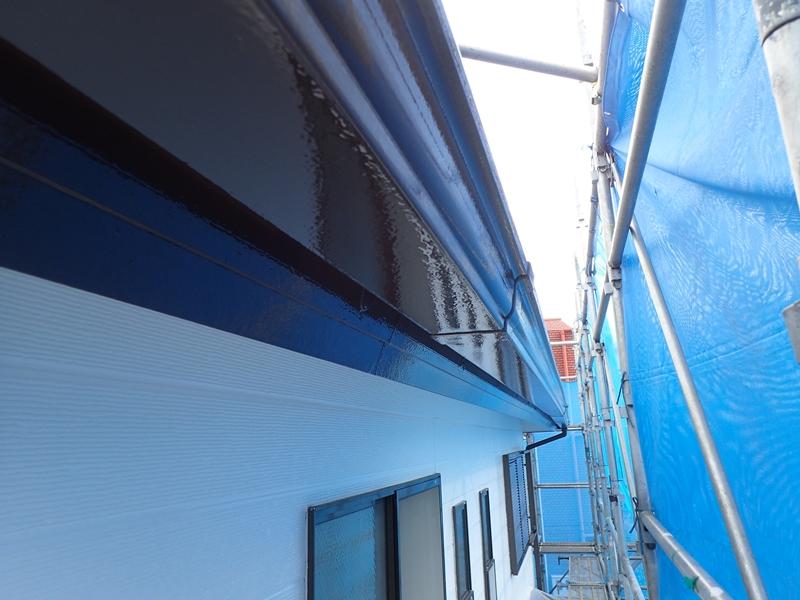 破風板 樋塗装