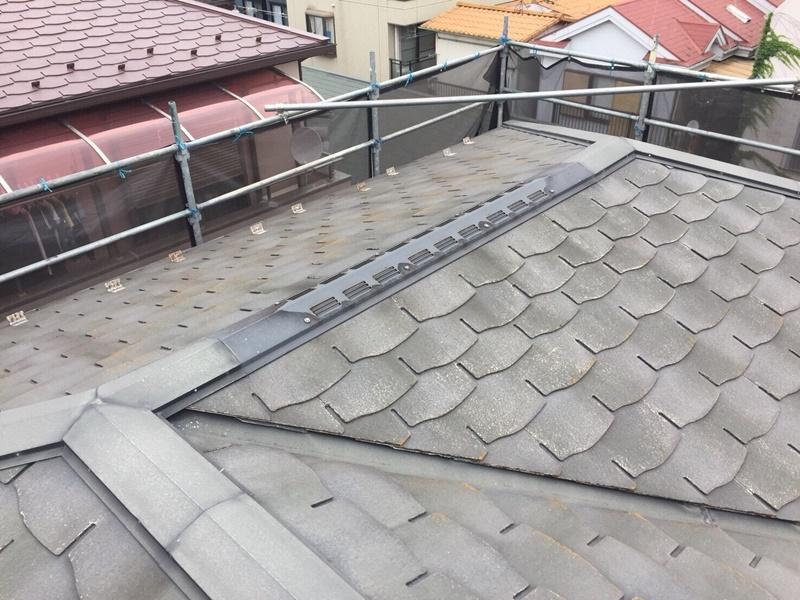 外壁の塗装 川崎市高津区住宅塗りかえ工事 施工前コロニアル屋根