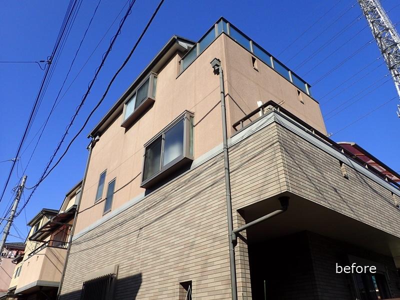 外壁の塗装 川崎市高津区住宅塗りかえ工事 施工前