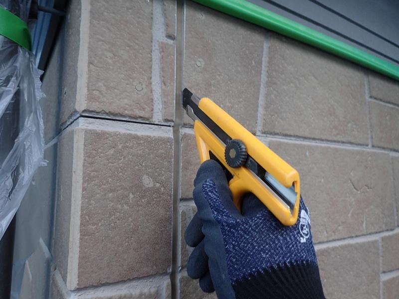 外壁塗装 リシン壁面工事前