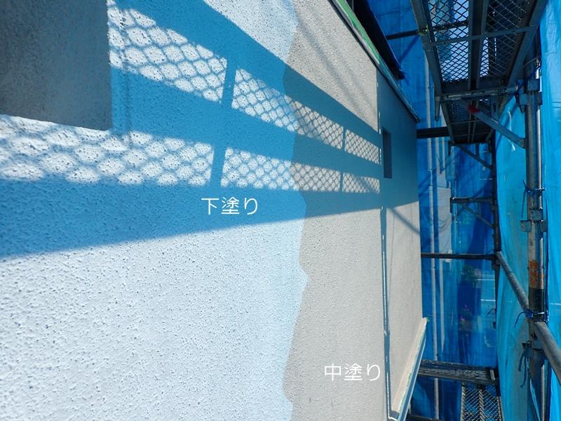 川崎市の外壁塗装 外壁面下塗り