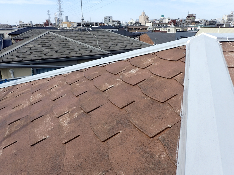コロニアル屋根塗装 川崎市高津区住宅