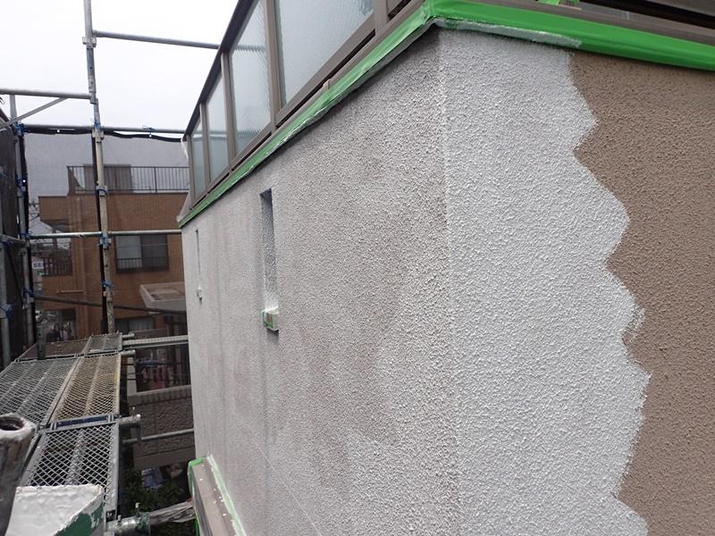 外壁の塗装 川崎市高津区住宅塗りかえ工事 パーフェクトセラミックトップG