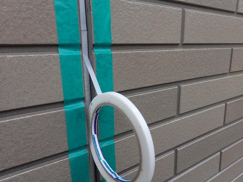 外壁の塗装 川崎市高津区住宅塗りかえ工事 サイディングクリアー後コーキング打替え
