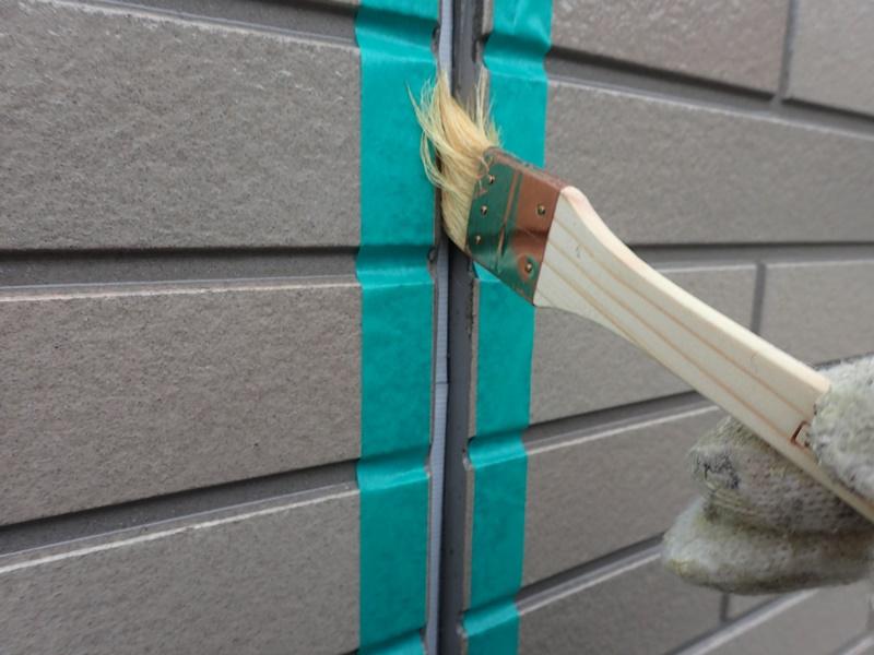 外壁の塗装 川崎市高津区住宅塗りかえ工事 サイディングクリアー後コーキング工事