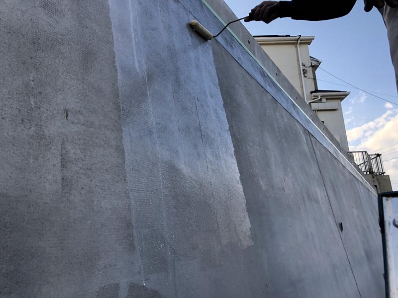 川崎市横浜市の外壁塗装工事 大谷石 改修工事 モルタル塗り