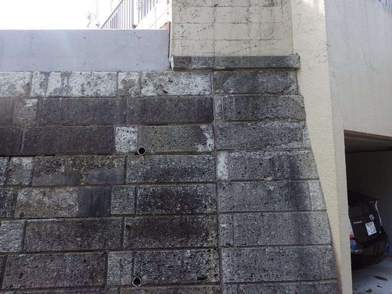 川崎市の外壁塗装工事  大谷石 改修工事前