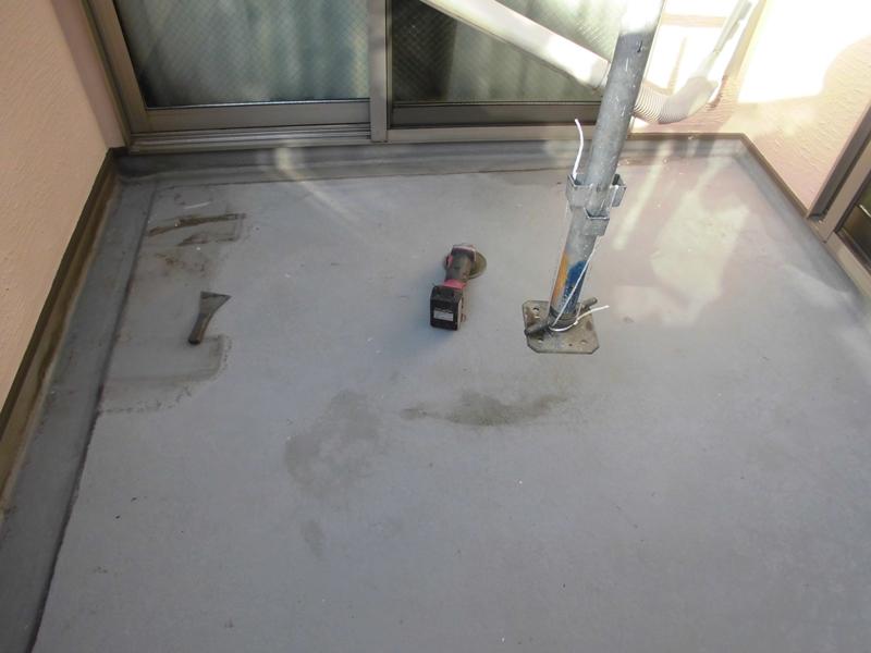 川崎市中原区ジョリパット外壁塗装 ベランダFRP防水施工