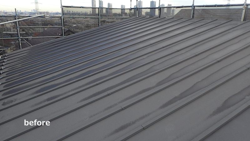 川崎市中原区ジョリパット外壁塗装 屋根ガイナ塗装