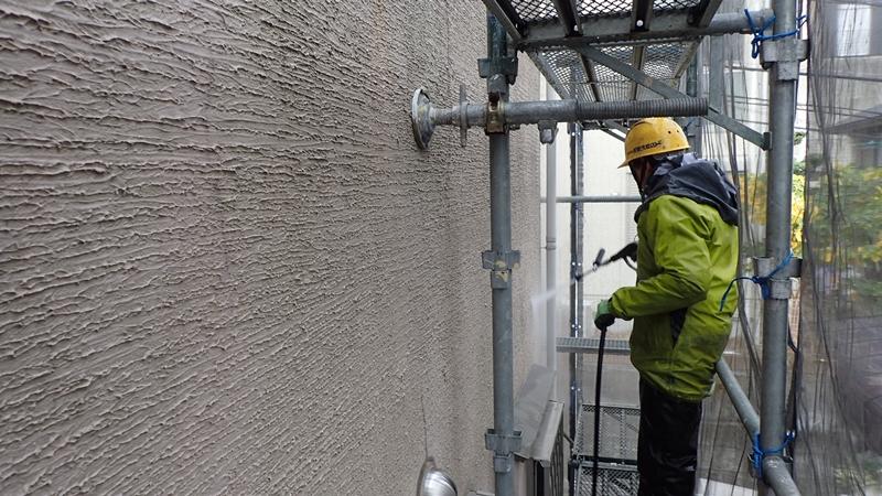 川崎市 中原区 ジョリパット 外壁塗装 屋根ガイナ塗装前洗浄 ジョリパットとは