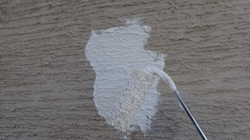 川崎市 中原区 ジョリパット外壁塗装 クラック補修施工中