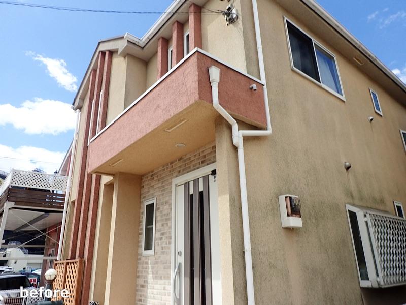 川崎市 高津区 住宅 外壁 塗装 ガイナ 塗装 とダイナミックトップ塗り替え工事 塗装工事前
