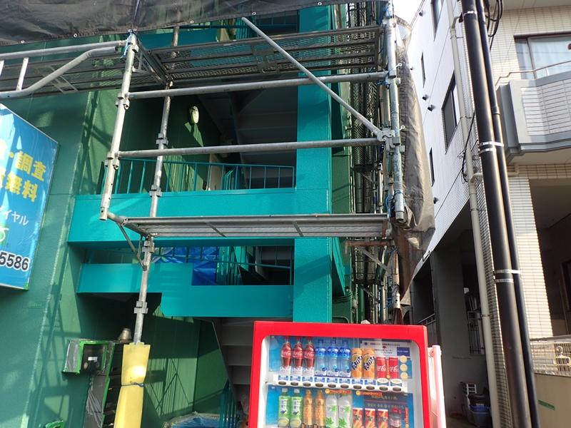 川崎市 高津区 マンション 塗装 ALC 外壁塗装 の施工 上塗り