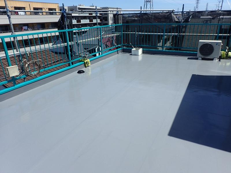 川崎市 高津区 マンション 塗装 ALC 外壁塗装 の施工 屋上防水工事 施工後