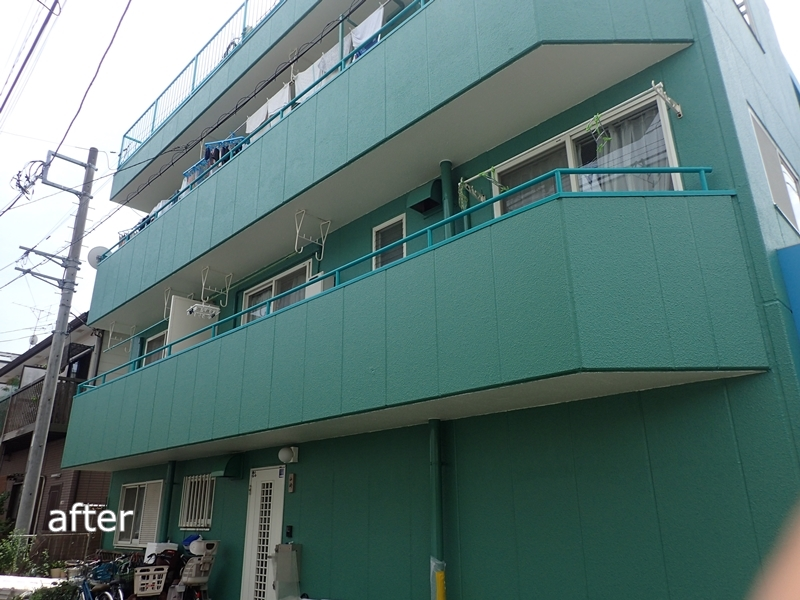 川崎市、横浜市、東京都の塗りかえ専門店 佐藤塗装店 ALC外壁の塗りかえ工事 施工後