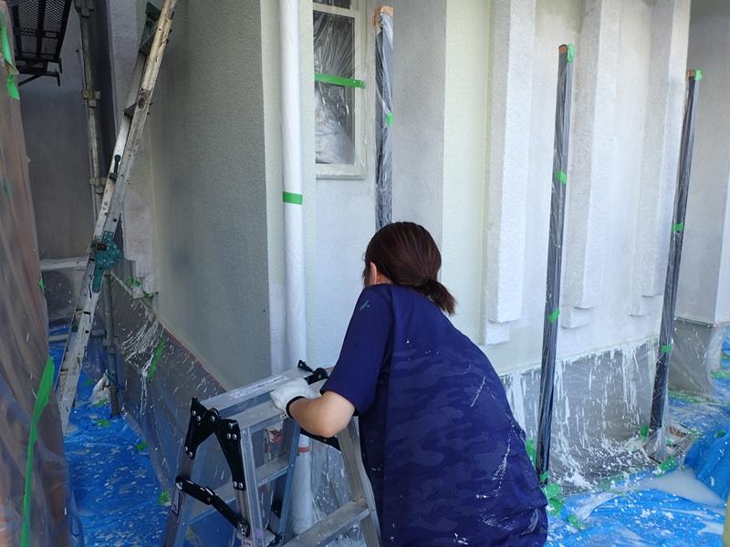 川崎市 高津区 住宅 外壁 塗装 ガイナ 塗装 とダイナミックトップ塗り替え工事 塗装工事前 ダイナミックトップ塗装