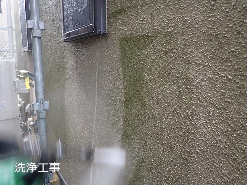 川崎市 、横浜市、 東京都 ジョリパット 塗り替え 外壁塗装  杉並区 住宅 壁面洗浄