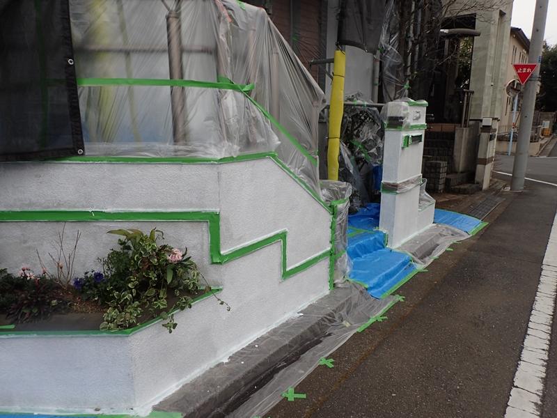 川崎市 、横浜市、 東京都 ジョリパット 塗り替え 外壁塗装  杉並区 住宅 養生