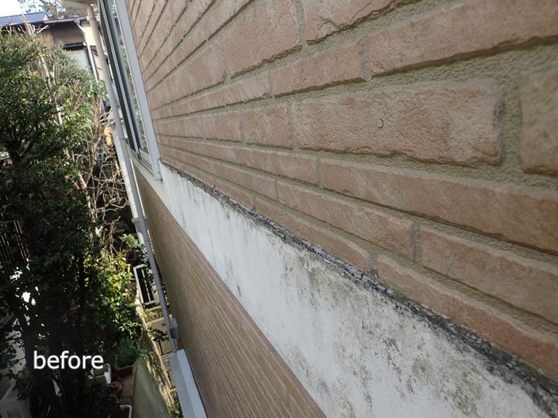 川崎市 麻生区 住宅の 外壁塗装 クリアー 塗装 工事前 幕板腐食劣化