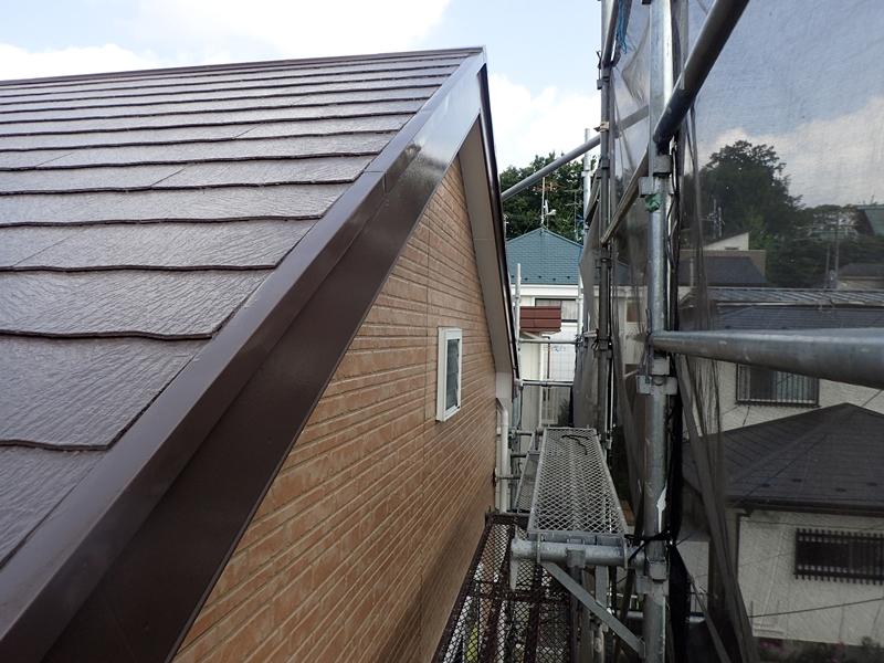 川崎市 麻生区 住宅の 外壁塗装 クリアー 塗装 工事前 破風板軒天塗装