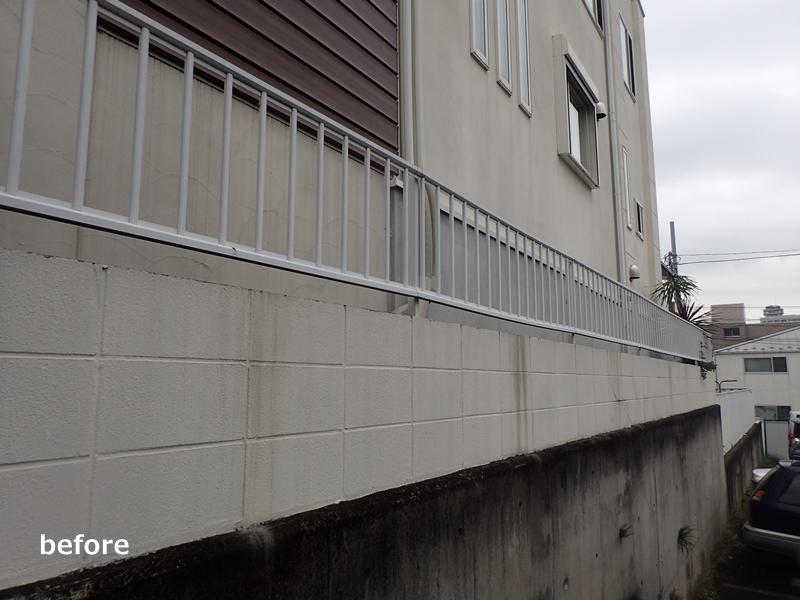 塀フェンスのリフォーム工事 ジョリパット「レイヤーストーン」と三協アルミ「アリッサム」