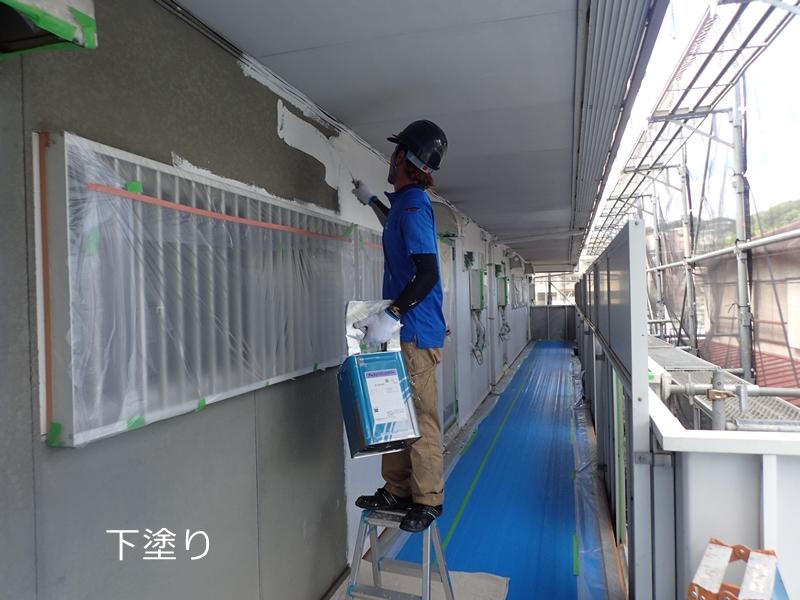 川崎市多摩区 アパートの外壁塗装