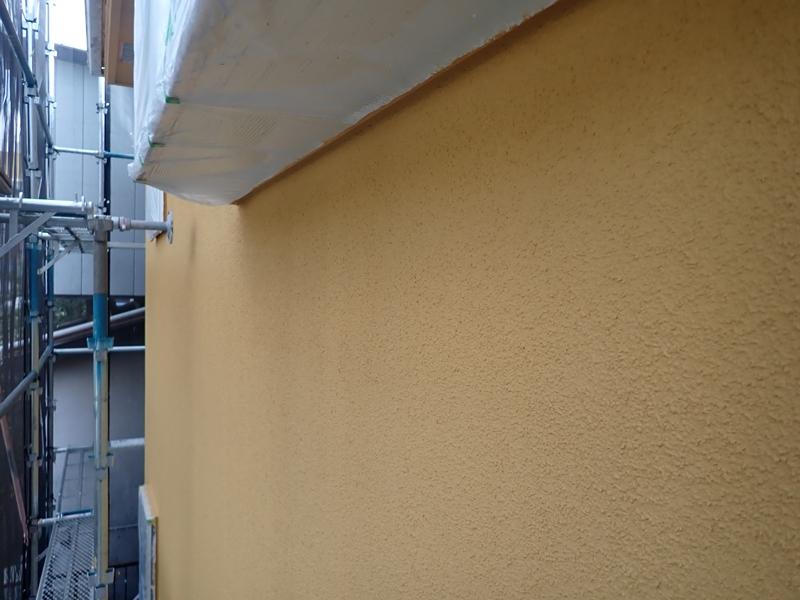 川崎市多摩区 外壁塗装 リシンの塗装 ジョリパットフレッシュ