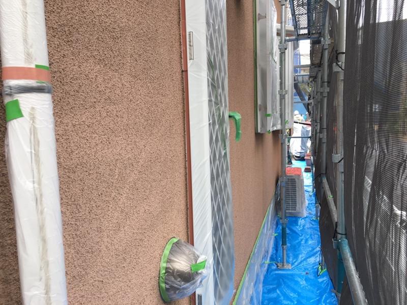 川崎市多摩区 外壁塗装 リシンの塗装