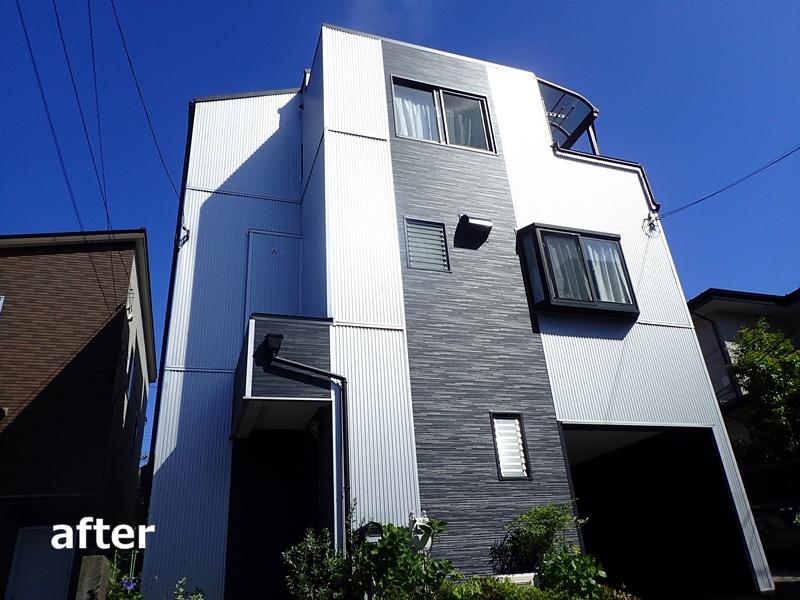 金属サイディング ガルスパンJ×シャドーライン 川崎市多摩区外壁塗装