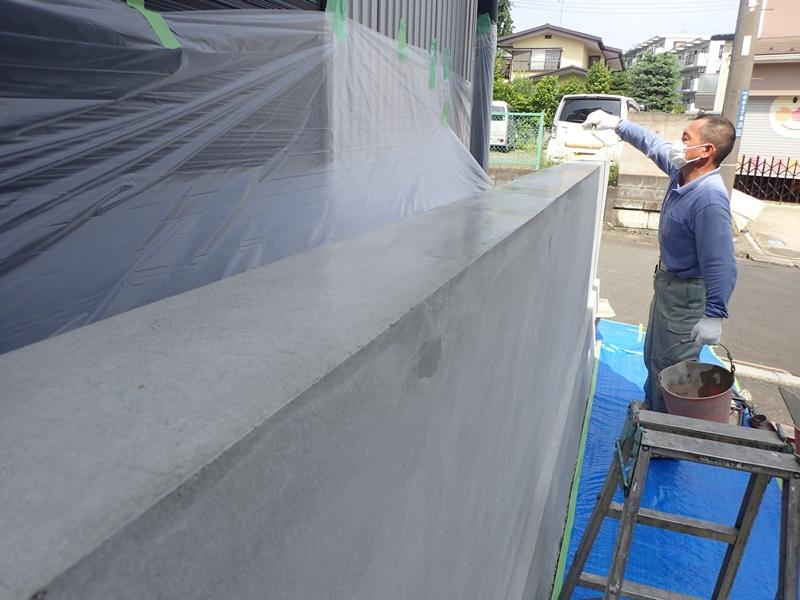 ブロック塀塗装 大谷石の補修工事とジョリパット仕上げ「校倉」