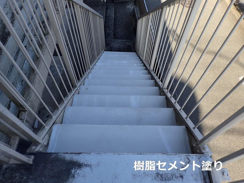 タキステップMWと廊下長尺シートの施工
