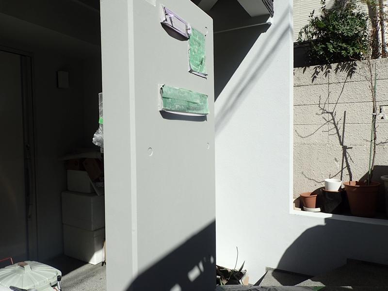 コンクリート打放し塗装 ランデックスコートの外壁塗装